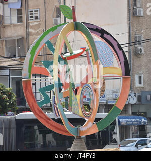 roundabout art in israel - Stock Image