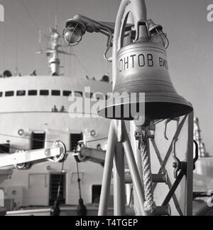 1960s, historical, ships' bell. - Stock Image