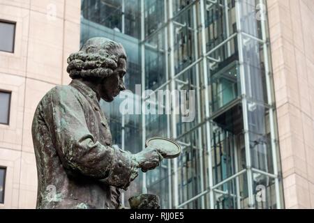 Joseph Priestley Statue Leeds Yorkshire England - Stock Image