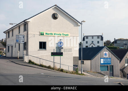 Office of North Harris Trust, community estate management - Stock Image
