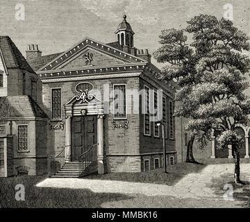 Lyon's Inn, London, England, UK as seen circa 1800 dissolved in 1863. 19th century Victorian engraving circa 1878 - Stock Image