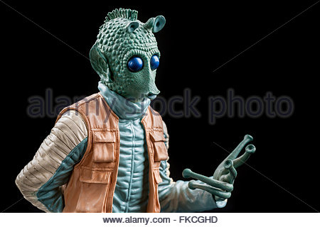 Star Wars bounty hunter Greedo (limited edition bust by Gentle Giant Studios) - Stock Image