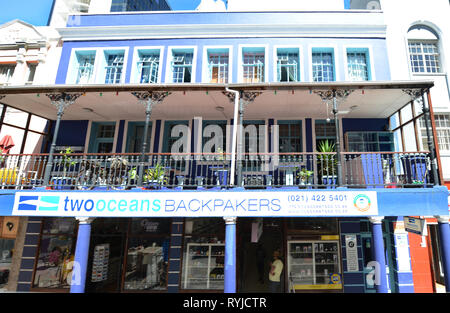 Two Oceans Backpackers guest house in Cape Town's city center. - Stock Image