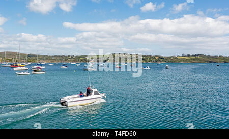Leisure boats in the harbour, Schull, County Cork, Republic of Ireland.  Eire. - Stock Image