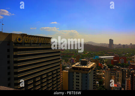 Sabana Grande Caracas Business Center from the CitiBank Tower. Vicente Quintero Venezuela - Stock Image