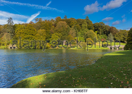 Stourhead Gardens in Wiltshire - Stock Image
