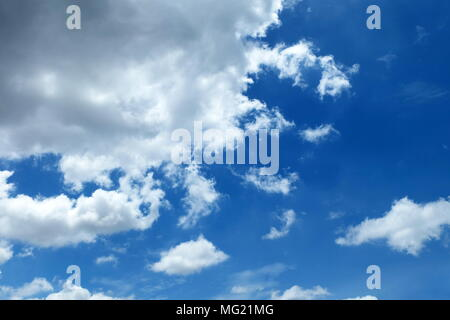 Blue Sky and Clouds Background. - Stock Image