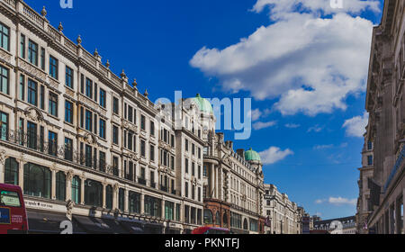 LONDON, UNITED KINGDOM - August 21st, 2018: architecture in London city centre in Regent Street - Stock Image