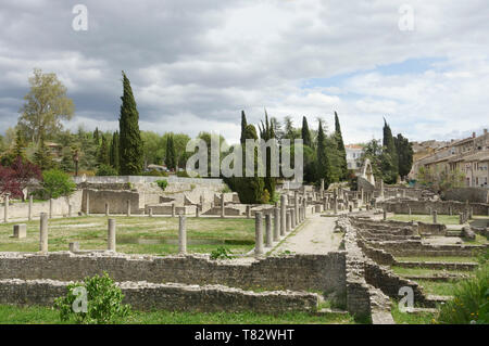 Roman Ruins in Vaison la Romaine, France without people - Stock Image