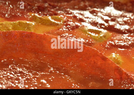Roslyn Harbor, New York, USA. August 23, 2016. Macro closeup of 'Pizza' 3-dimensional artwork by artist - Stock Image