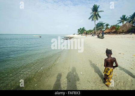 Sei Island, the Turtle Islands, Sierra Leone. - Stock Image