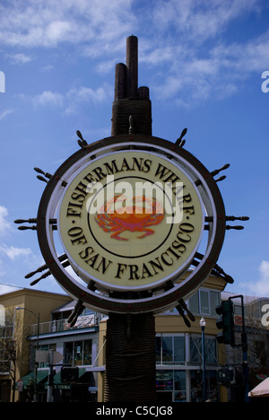 Fishermans Wharf,San Francisco,California,USA,America - Stock Image