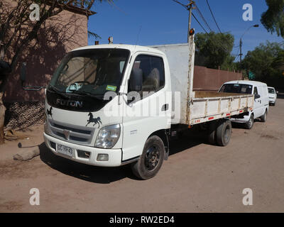 Foton truck in Chile 2019 - Stock Image