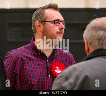 Neil Black, Scottish Labour candidate, Ward 5 Council election, Haddington & Lammermuir by-election, East Lothian May 2019, Scotland, UK - Stock Image