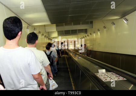 Mass Rapid Transit, MRT Metro system, Singapore - Stock Image