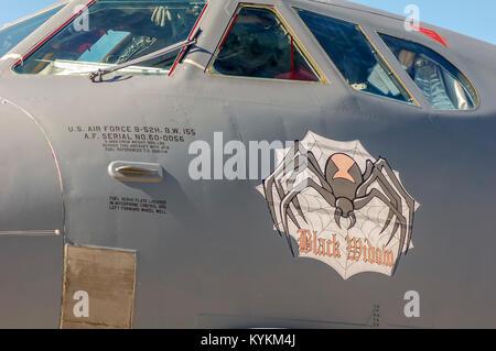 Art on B-52H 'Black Widow', - Stock Image