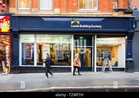 Leeds Building Society branch in Birmingham, UK - Stock Image