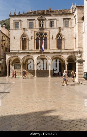Elk192-3402v Croatia, Dubrovnik, Sponza Palace, 16th c - Stock Image