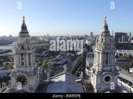 London skyline view from St Paul's Cathedral 2010 - Stock Image