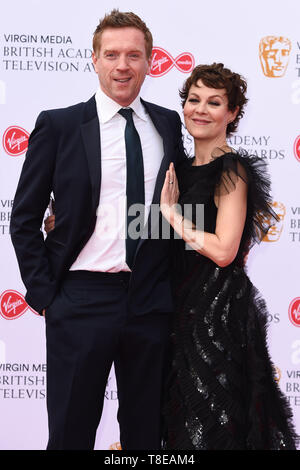 LONDON, UK. May 12, 2019: Damien Lewis & Helen McRory arriving for the BAFTA TV Awards 2019 at the Royal Festival Hall, London. Picture: Steve Vas/Featureflash - Stock Image