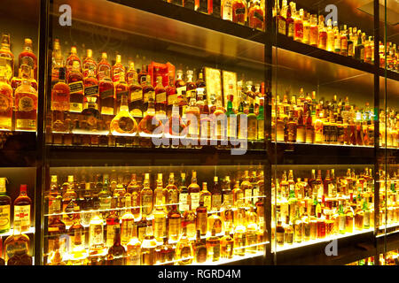 The largest Scotch Whisky collection in the world - Stock Image