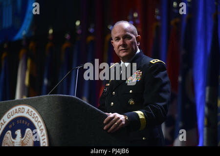 Army Lt. Gen. Timothy Kadavy, director, Army National Guard, at the National Guard Association of the United States 140th General Conference, New Orleans, Louisiana, Aug. 27, 2018. (U.S. Army National Guard photo by Sgt. 1st Class Jim Greenhill) - Stock Image