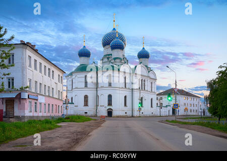 Bogoyavlenskiy monastery on sunset in Uglich, Russia - Stock Image