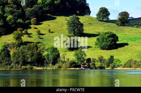 The Duke of Portland Boathouse,Ulswater Lake,Pooley Bridge,Cumbria,England,UK - Stock Image