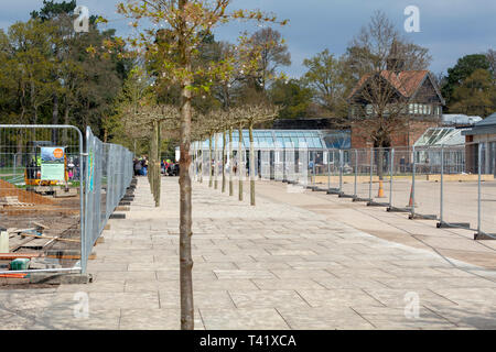 RHS Wisley visitor centre under construction - Stock Image