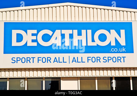 Sheffield, Decathlon Sport for all Sport Store, England - Stock Image