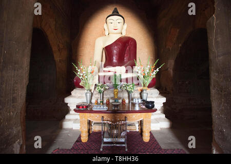 Nara Thihapataetemple, Old Bagan village area, Mandalay region, Myanmar, Asia - Stock Image
