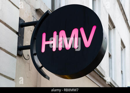 HMV has entered administration for the second time - Stock Image