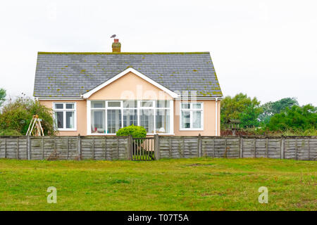 An English detached house in a seaside town Southwold of the UK - Stock Image