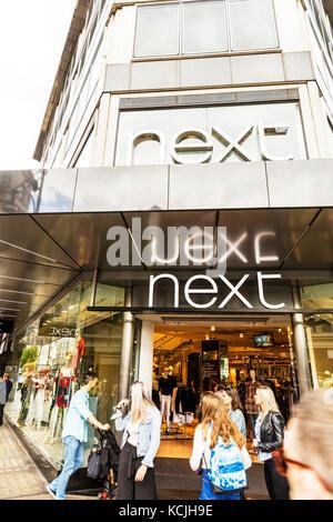 Next clothes shop Oxford Street London UK, Next clothing store Oxford Street London, Next store sign, Next shop - Stock Image