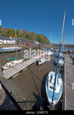 Low tide at Avoch on the Black Isle on the Moray Firth. - Stock Image