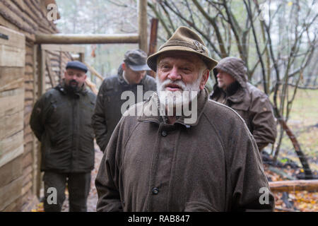 Dr Andrzej Krzywinski owner and founder of Kadzidlowo Wild Animals Park in Poland - Stock Image