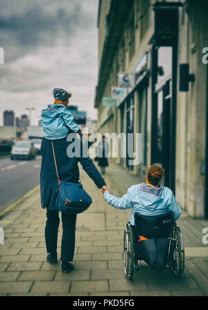 disability   wheelchair user  disablity - Stock Image
