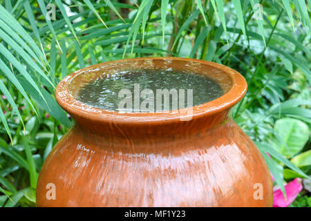 Large ceramic water fountain. - Stock Image
