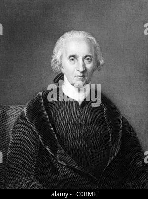 Charles Carroll of Carrollton (1737-1832) on engraving from 1834. Wealthy Maryland planter & an early advocate - Stock Image