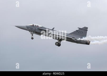SAAB Grippen Swedish air force - Stock Image