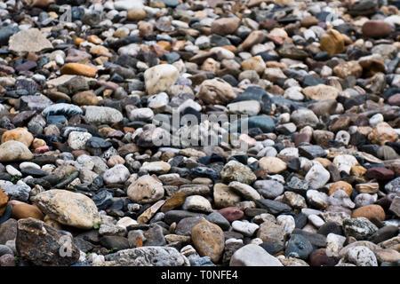 pebbles background - Stock Image