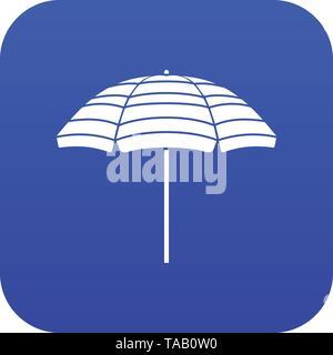 Beach umbrella icon digital blue - Stock Image