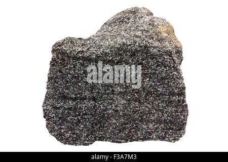 Garnet amphibolite rock sample - Stock Image