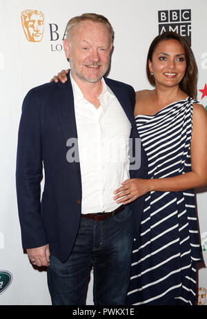 Celebrities attend 2018 BAFTA Los Angeles + BBC America TV Tea Party at The Beverly Hilton.  Featuring: Jared Harris, Allegra Riggio Where: Los Angeles, California, United States When: 16 Sep 2018 Credit: Brian To/WENN.com - Stock Image