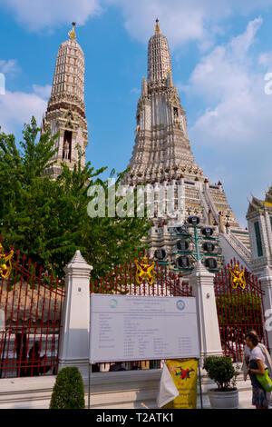 The Spire, Wat Arun Ratchawararam, Bangkok, Thailand - Stock Image