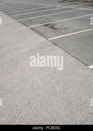 Lines in car parking area. - Stock Image