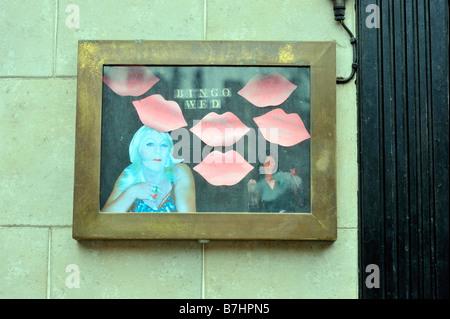 transvestite bar sign gay bar canal street manchester uk - Stock Image