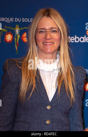 London, United Kingdom. 16 January 2019. Edith Bowman arrives for the red carpet premiere of Cirque Du Soleil's 'Totem' held at The Royal Albert Hall. Credit: Peter Manning/Alamy Live News - Stock Image