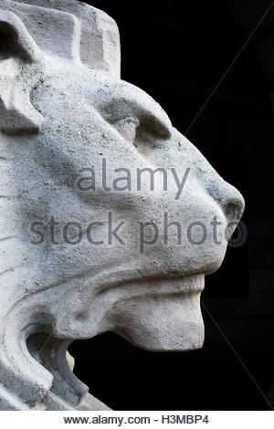 Nottingham, England, 10 October 2016  Left Lion in front of Council House. Traditional meeting place in Nottingham's - Stock Image