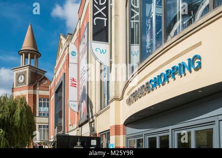 Exterior facade of Waterside Shopping Centre, Lincoln, Lincolnshire, England UK - Stock Image